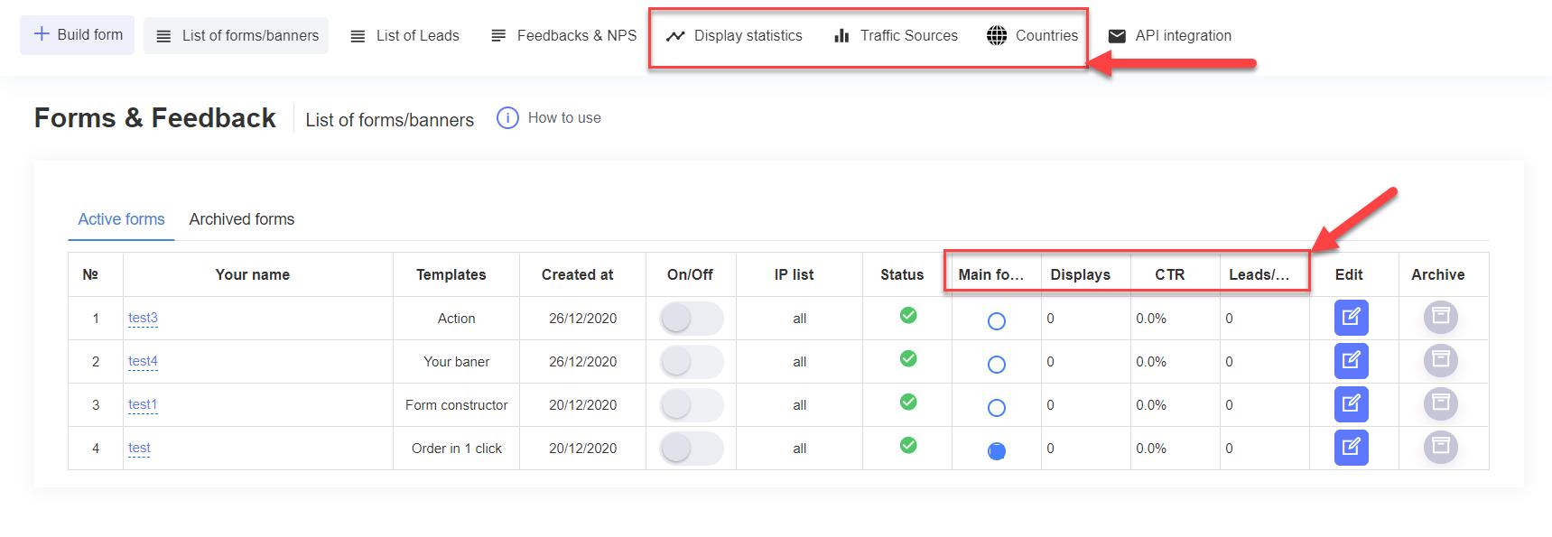 Plerdy popup data and analytics