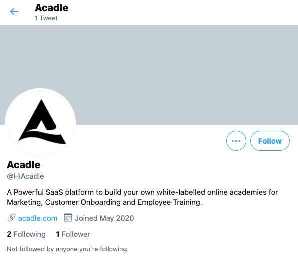 Acadle Twitter