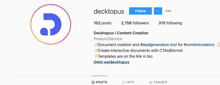 Decktopus IG