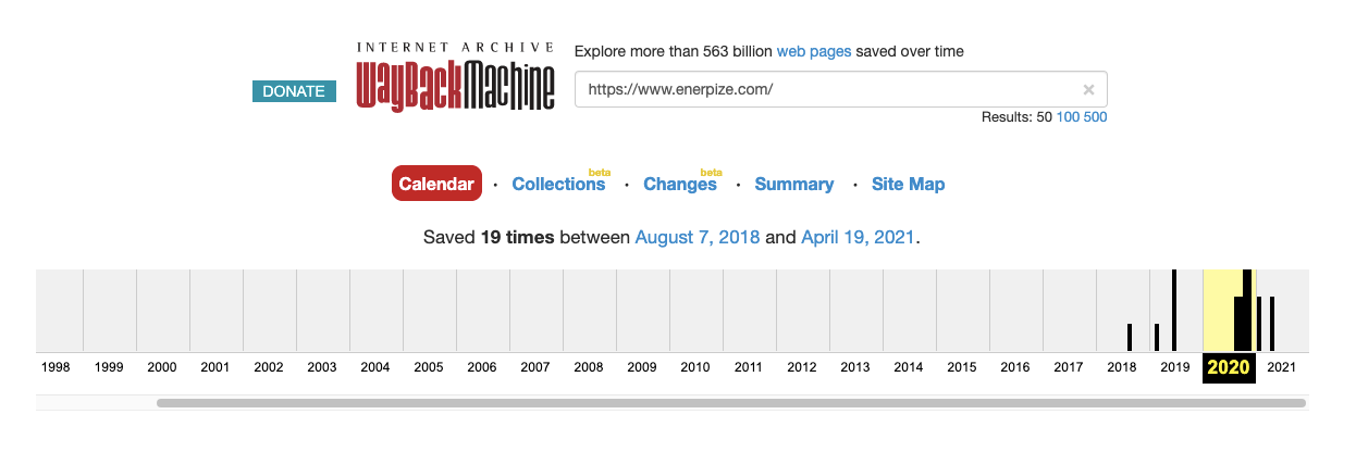 Enerpize Domain History