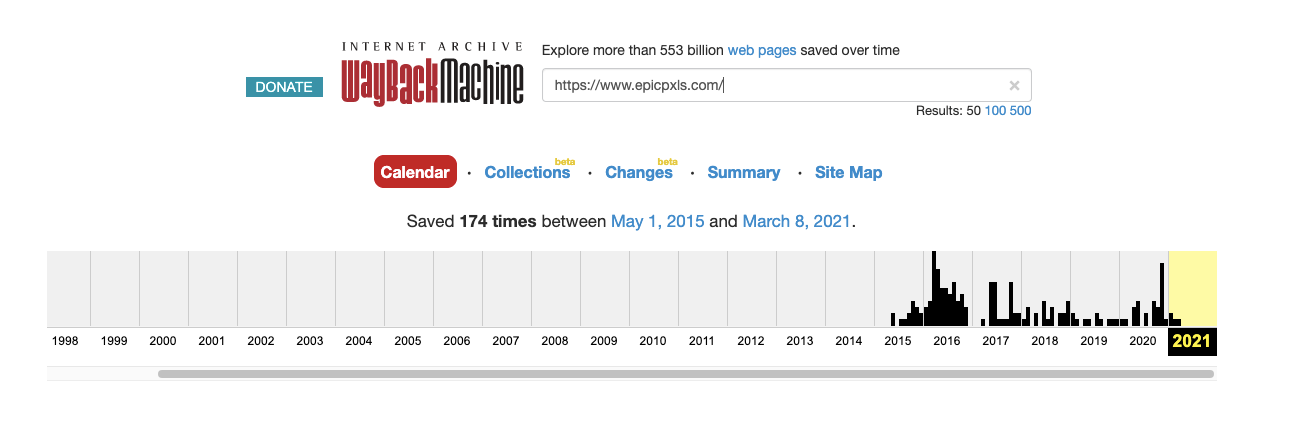 EpicPxls Domain History
