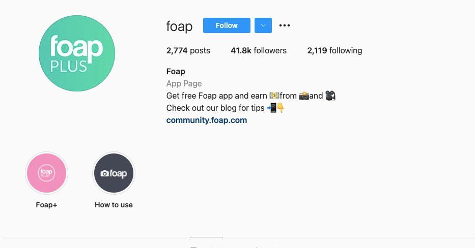 Foap IG