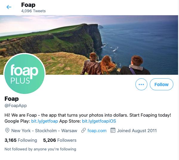 Foap Twitter