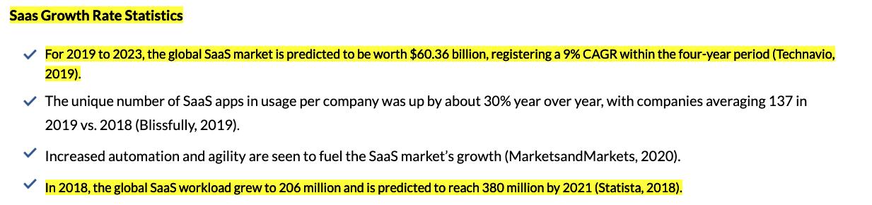 SaaS Growth Rate Statistics