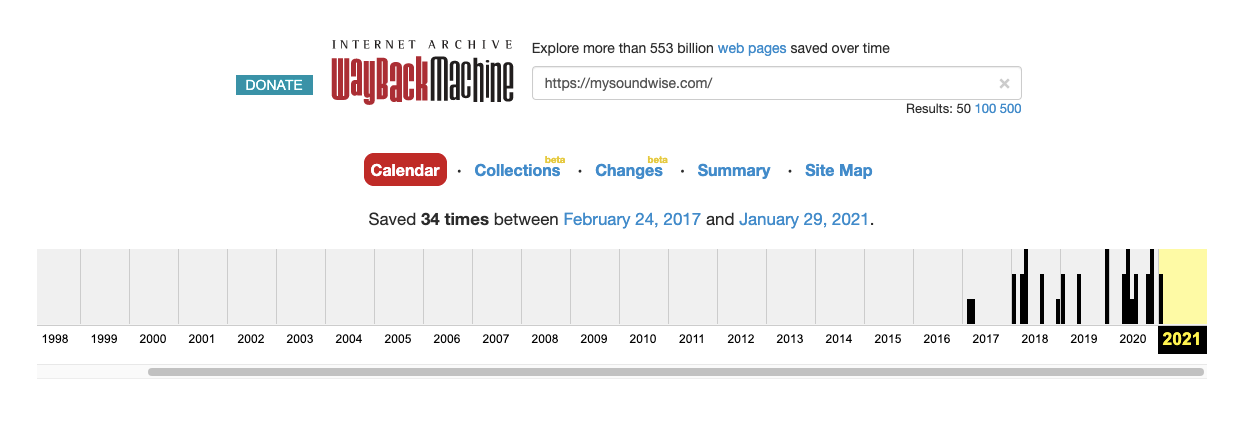Soundwise Domain History