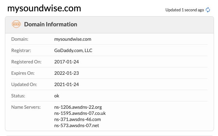 Soundwise Domain Info