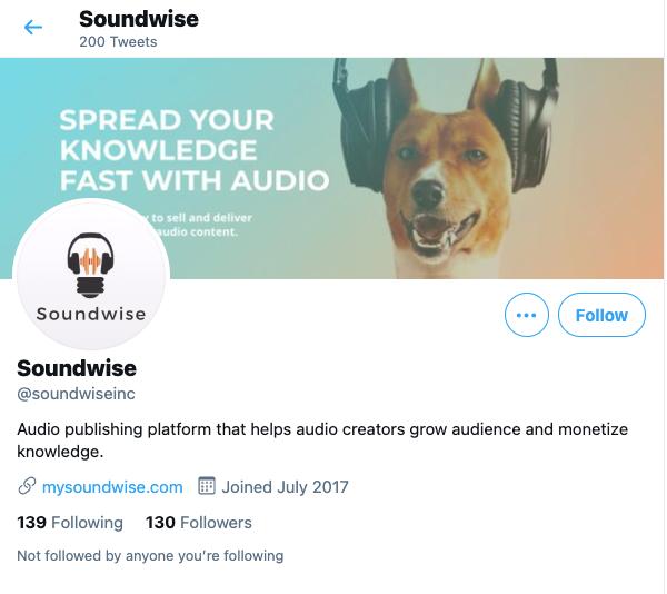 Soundwise Twitter
