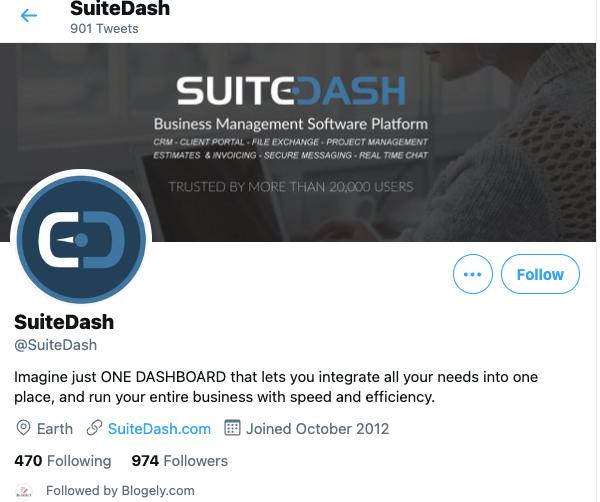 SuiteDash Twitter