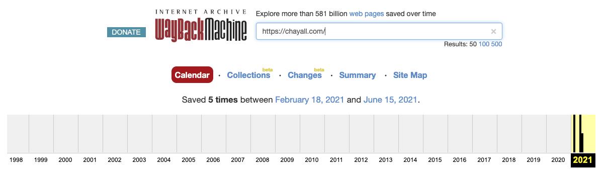 chayall domain history