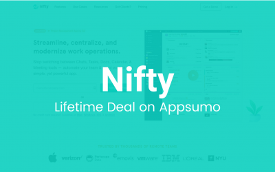 Nifty: Smoother Team Collaboration and Project Management in a Single Platform